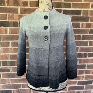 JM Collection grey blank cardigan
